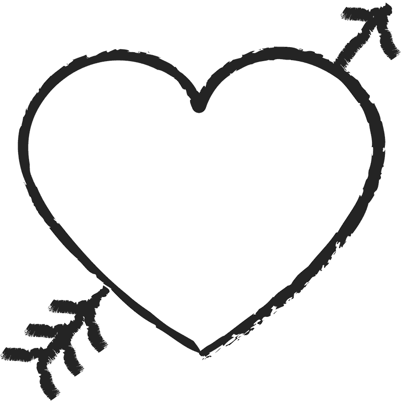 Cute arrow heart clipart clip free Heart with Arrow Rubber Stamp | Heart Stamps – Stamptopia clip free