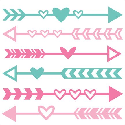 Cute arrow jpg clipart vector freeuse download Valentine Arrow Set SVG scrapbook cut file cute clipart files for ... vector freeuse download