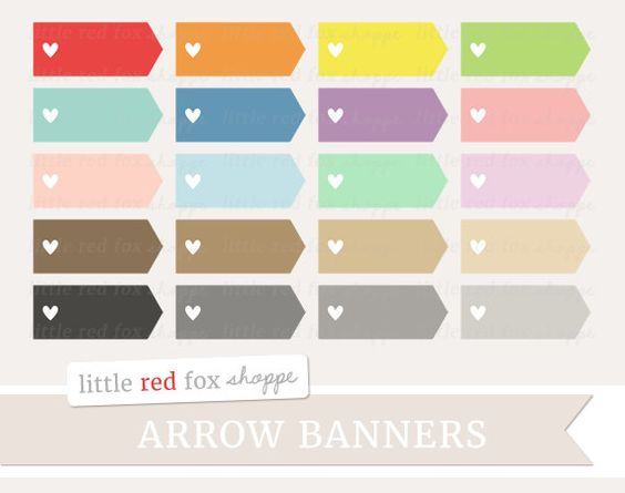 Cute arrow vintage clipart png library Heart Arrow Banner Clipart, Arrow Label Clip Art Valentines Day ... png library