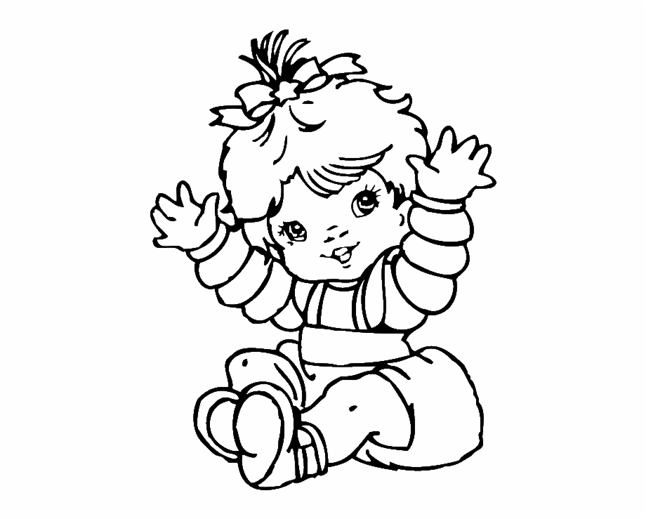 Cute baby clipart black and white jpg freeuse stock Free Baby Girl Clip Art Black And White, Download Free Clip ... jpg freeuse stock