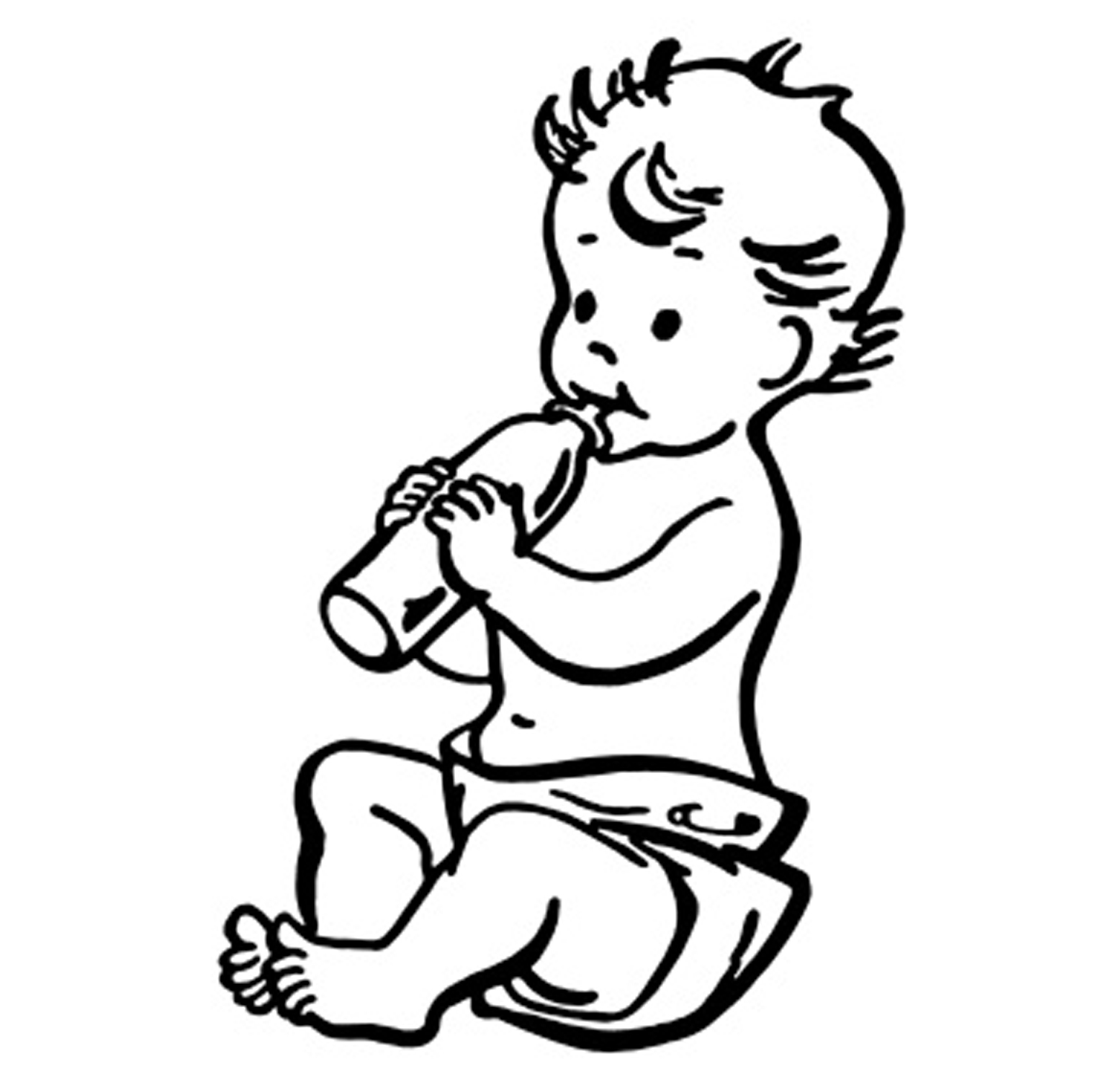 Cute baby clipart black and white banner freeuse Black And White Baby Clipart | Free download best Black And ... banner freeuse