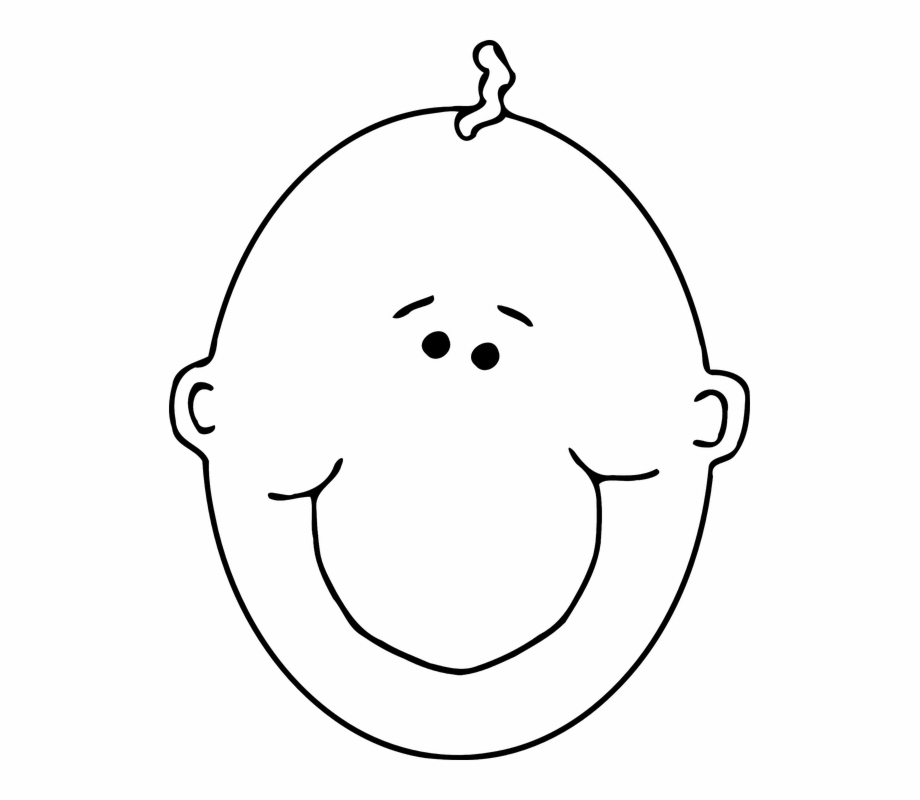Cute baby clipart black and white image Smiling Cute Baby Free Png Transparent Background Images ... image