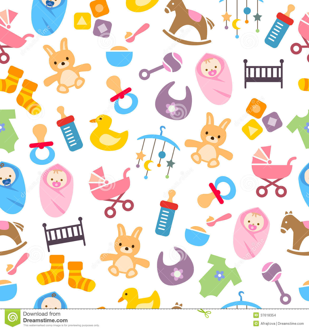 Cute baby clipart patterns svg library stock Cute Baby Pattern Stock Images - Image: 37618354 svg library stock