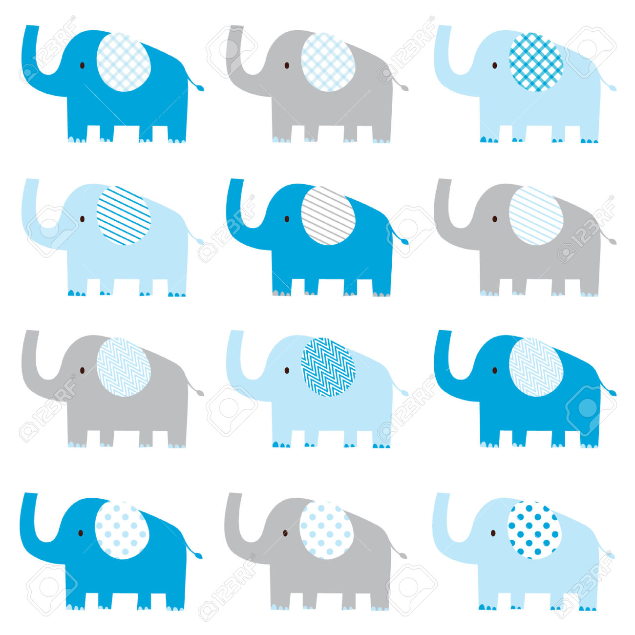 Cute baby clipart patterns clip transparent stock Cute Baby Boy Elephant Pattern Royalty Free Cliparts, Vectors, And ... clip transparent stock