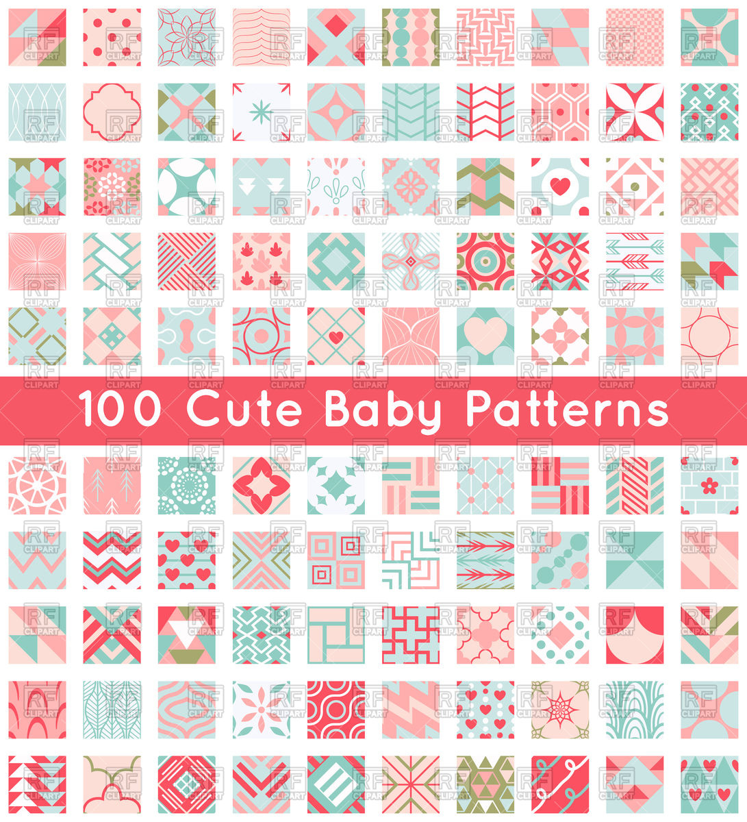 Cute baby clipart patterns image download Cute baby seamless patterns Vector Image #98168 – RFclipart image download