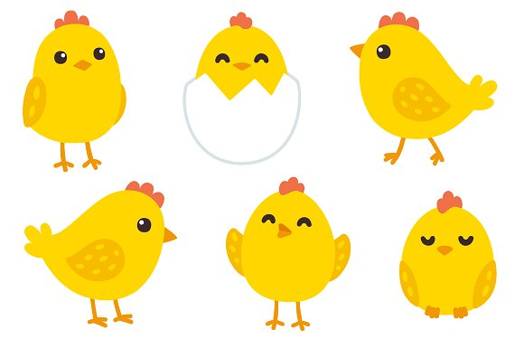 Cute baby clipart patterns freeuse Cute baby chickens + patterns ~ Illustrations on Creative Market freeuse