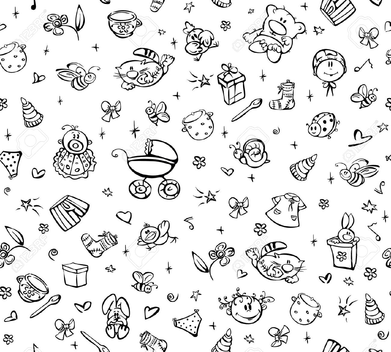 Cute baby clipart patterns png freeuse stock Cute baby clipart patterns - ClipartFest png freeuse stock