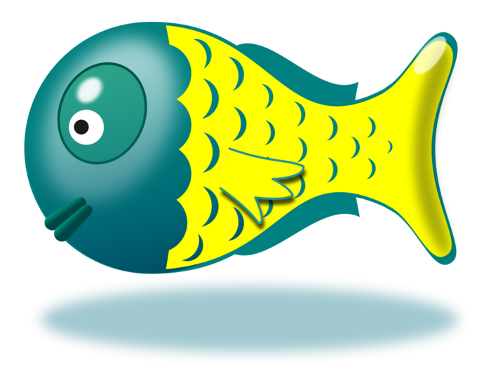 Free cute fish clipart vector black and white stock Cute Fish Clipart - BClipart vector black and white stock