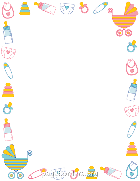 Cute baby storybook frame clipart jpg freeuse library Free Kid's Borders: Clip Art, Page Borders, and Vector Graphics jpg freeuse library