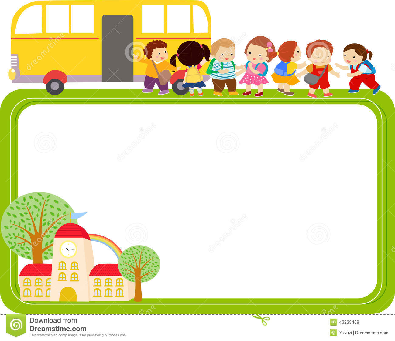 Cute baby storybook frame clipart image royalty free Cute school clipart frame - ClipartFox image royalty free
