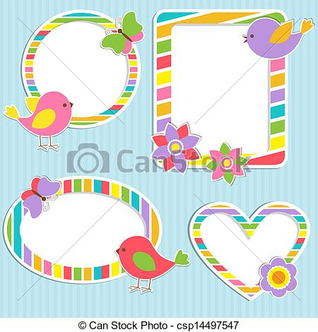 Cute baby storybook frame clipart png royalty free library Clipart frame cute - ClipartFox png royalty free library