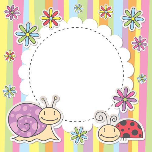 Cute baby storybook frame clipart clip art freeuse Cute baby backgrounds vector 04 - Vector Background free download ... clip art freeuse