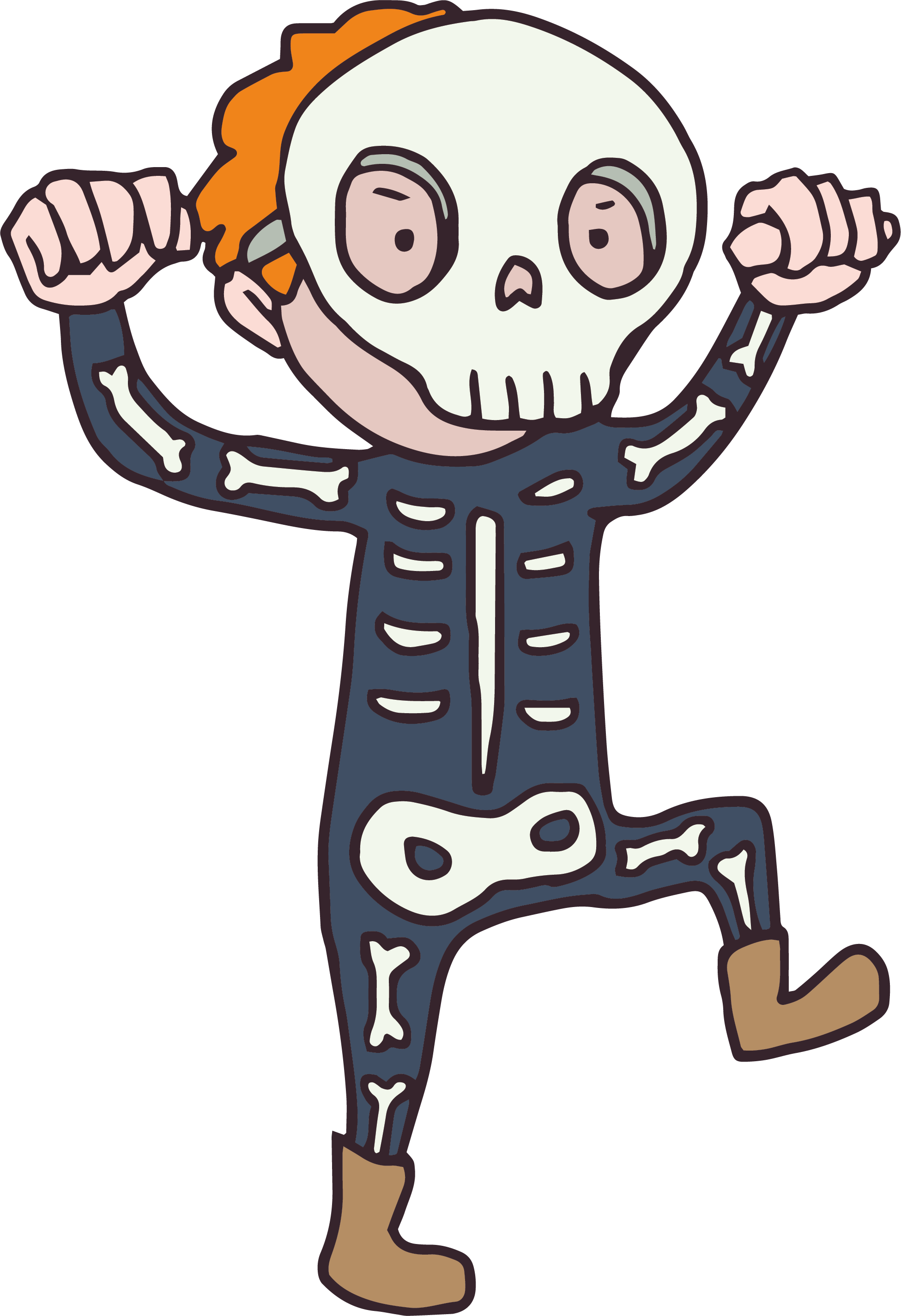 Scared baseball clipart png free stock Cartoon Skeleton Clipart at GetDrawings.com | Free for personal use ... png free stock