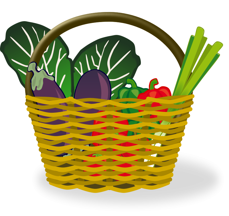 Vegggies clipart png download Cute basket of fruit veggie clipart only - Clip Art Library png download