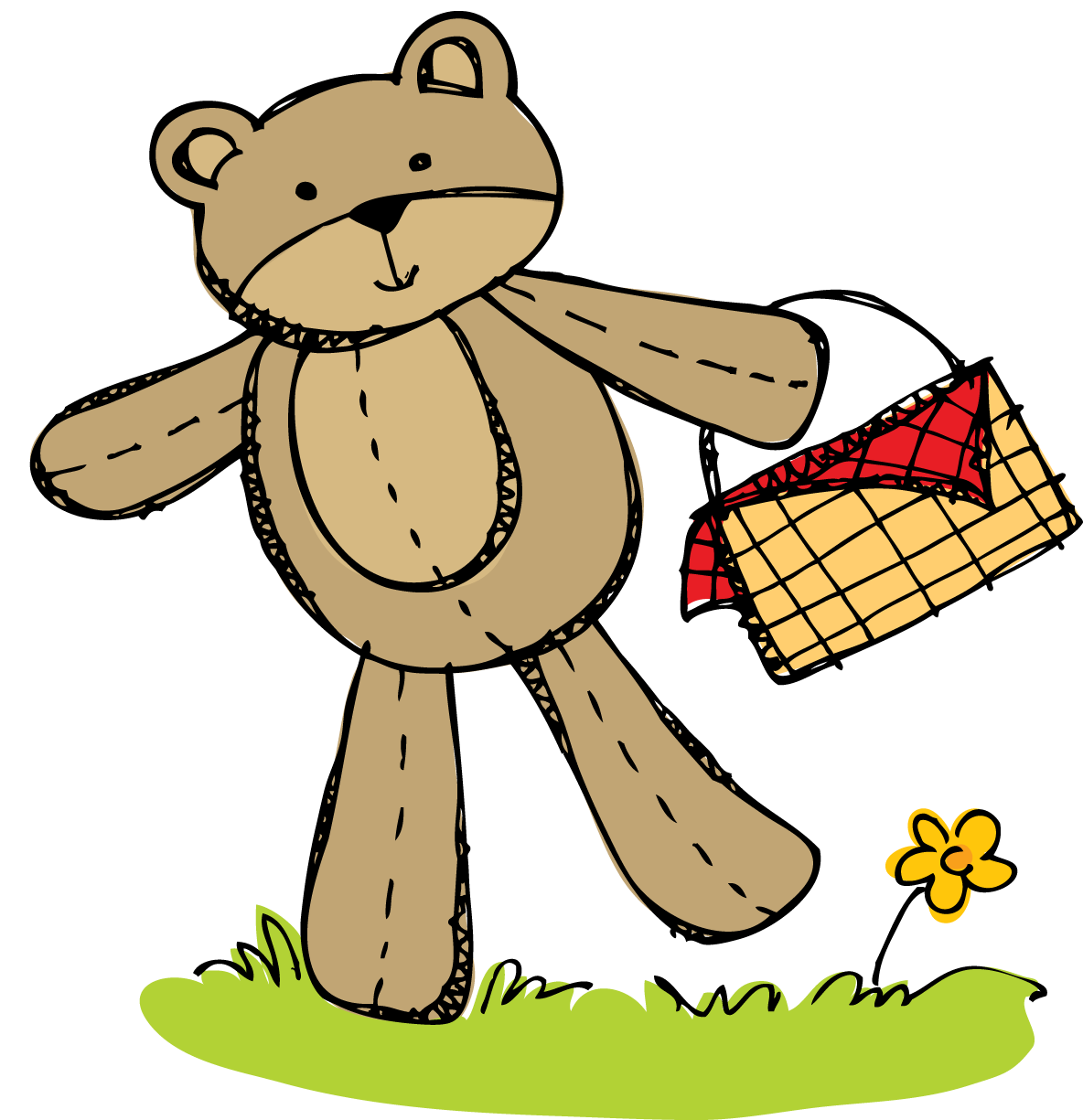 Cute bear april clipart svg stock Teddy Bear Picnic Clipart - Clipart Kid svg stock