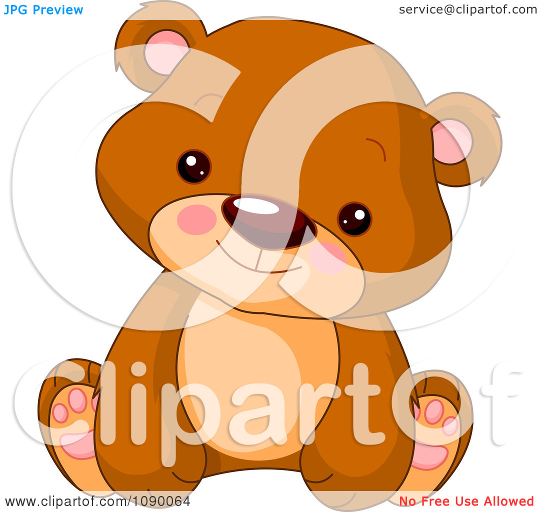 Cute bear clipart jpeg banner freeuse download Clipart Cute Bear Cub Sitting Upright - Royalty Free Vector ... banner freeuse download