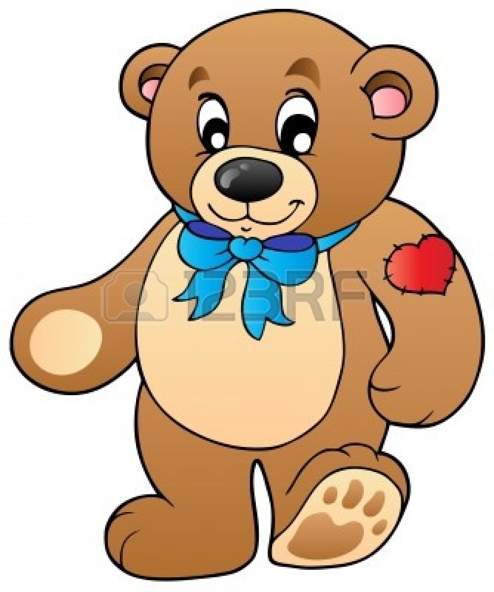 Cute bear clipart jpeg clipart stock Teddy Bear Standing Clipart - Clipart Kid clipart stock