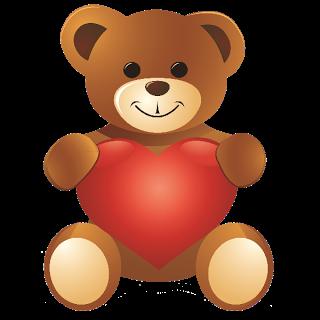 Clip art clipartfest smiling. Cute bear valentine clipart