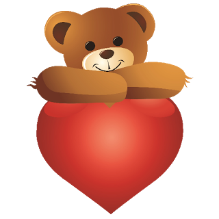 Cute bear valentine clipart - ClipartFest clipart library library
