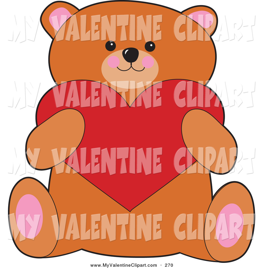 Cute bear valentine clipart clip art download Valentine's Clipart of a Cute and Sweet Brown Teddy Bear Holding a ... clip art download