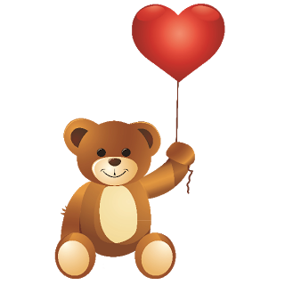Cute bear valentine clipart vector stock Teddy Bears - Valentine Images vector stock