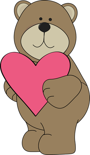 Cute bear valentine clipart. S day clip art