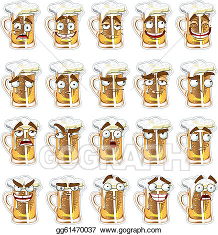 Cute beer clipart vector royalty free EPS Illustration - Cute series of smiles beer. Vector ... vector royalty free