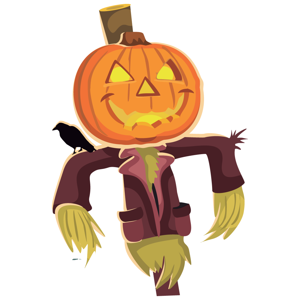 Rustic pumpkin clipart image royalty free Free Scarecrow Clipart Pictures - Clipartix image royalty free
