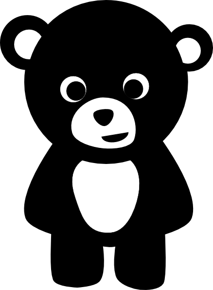 Cute black bear clipart clipart Black Bear Clip Art at Clker.com - vector clip art online, royalty ... clipart