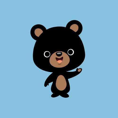 Cute black bear clipart banner royalty free Little Black Bear | bear | Cute cartoon drawings, Bear illustration ... banner royalty free