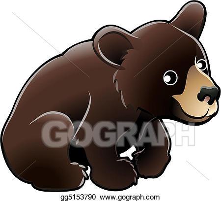 Cute black bear clipart clip black and white library Vector Stock - American black bear cute vector illustration. Stock ... clip black and white library