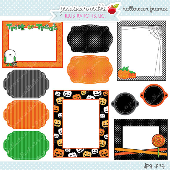 Cute block clipart jpg royalty free download Halloween Frames - Cute Frame Clipart - Commercial Use OK ... jpg royalty free download