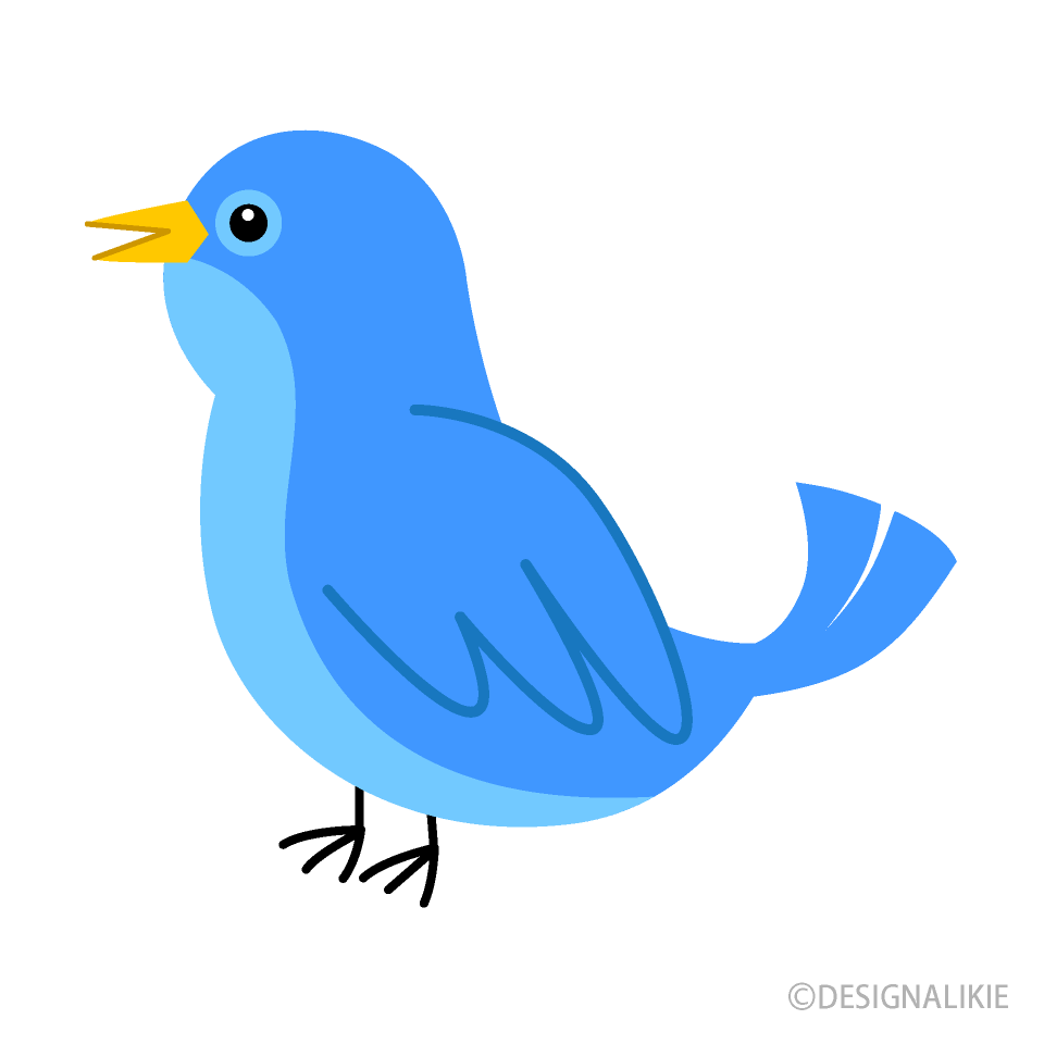 Cute Blue Bird Clipart Free Picture|Illustoon image free library