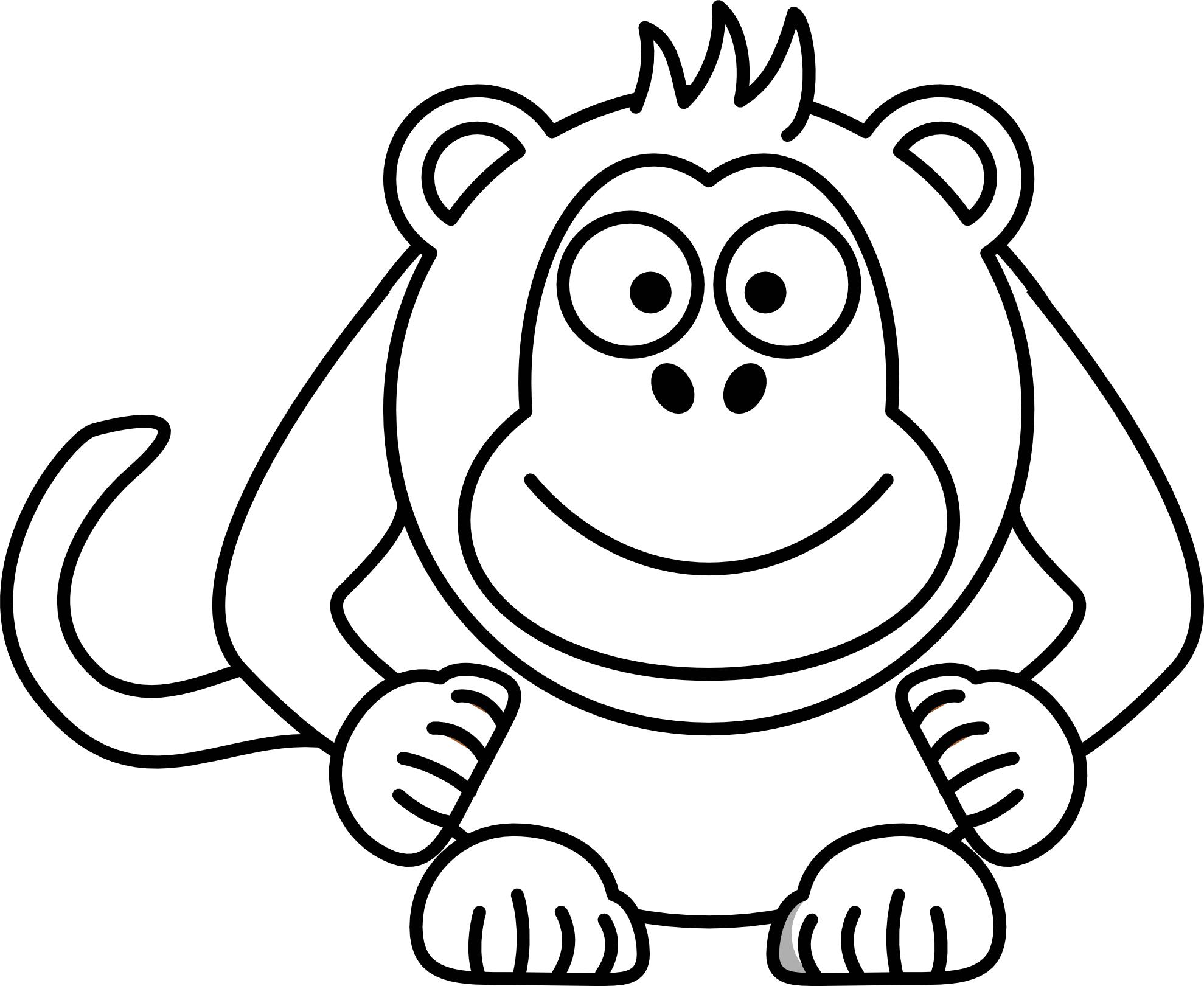Cute book clipart black and white clip art transparent stock Free Picture Cartoon Monkey, Download Free Clip Art, Free Clip Art ... clip art transparent stock