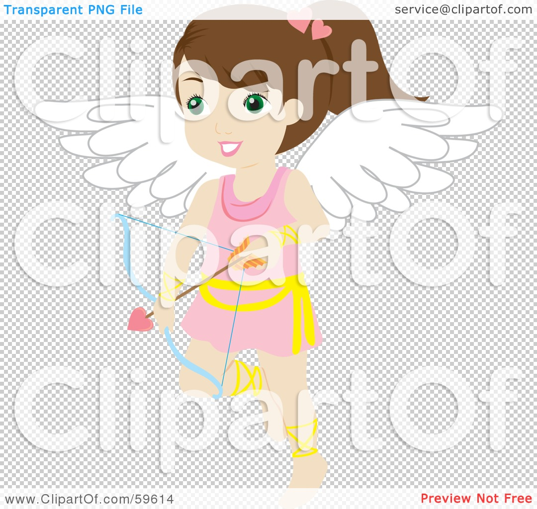 Cute bow arrow jpg clipart clip art royalty free download Royalty-Free (RF) Clipart Illustration of a Cute Brunette Female ... clip art royalty free download
