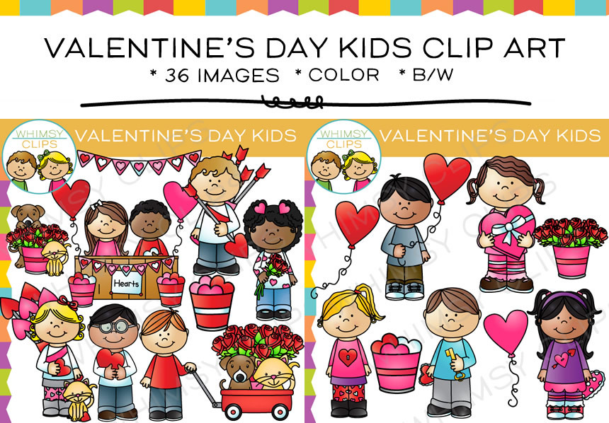 Cute boy valentine clipart clipart download Cute Valentine's Day Kids Clip Art , Images & Illustrations ... clipart download