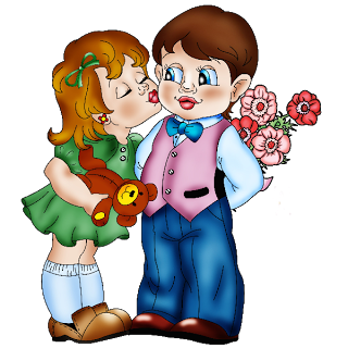 Cute boy valentine clipart vector freeuse stock Funny Boy And Girl - Valentine Images vector freeuse stock