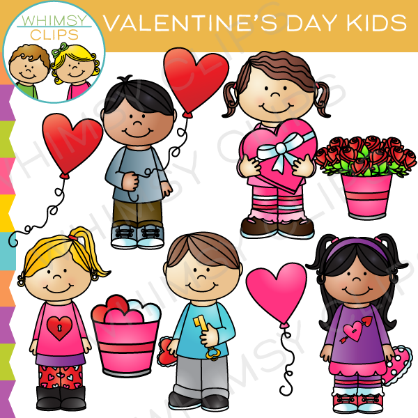 Cute boy valentine clipart image library Cute Valentine's Day Kids Clip Art , Images & Illustrations ... image library