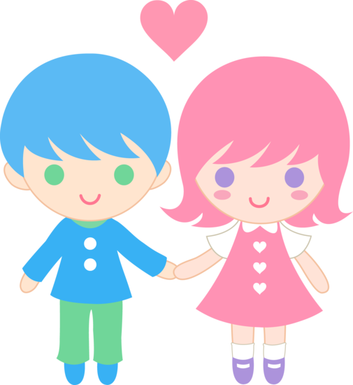Cute boy valentine clipart image royalty free download Cute Valentines Day Kids - Free Clip Art image royalty free download