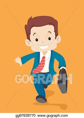 Cute briefcase of money clipart for kids clip art library stock Vector Stock - Kid in business suit carrying a suitcase while ... clip art library stock