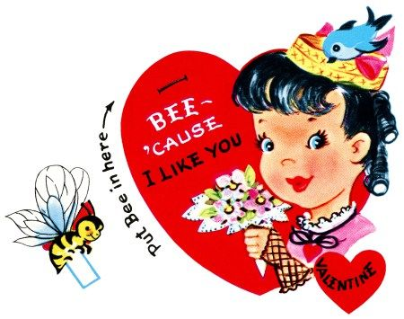Cute bumbblebee valentine clipart png freeuse library bumblebee valentine, vintage valentine clip art, retro valentine ... png freeuse library