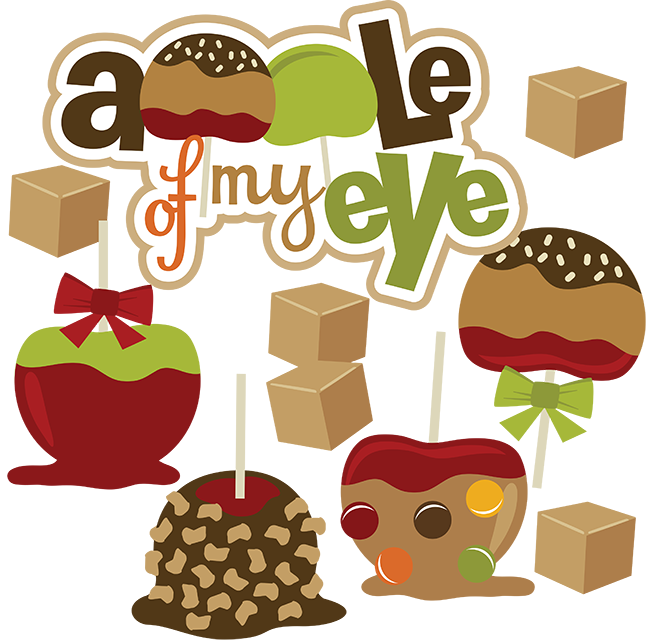 Cute carmel apple clipart svg freeuse download Apple Of My Eye - SVG scrapbooking files | Cuttable Scrapbook SVG ... svg freeuse download