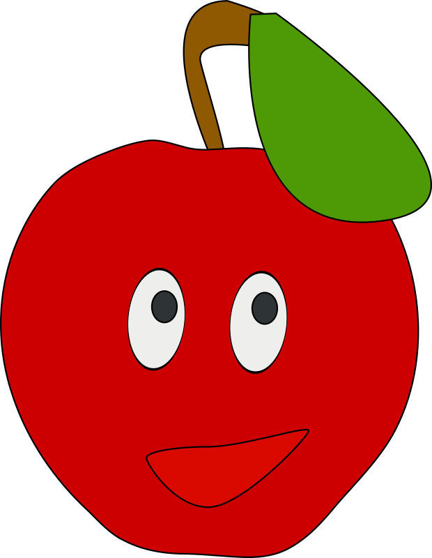 Cute cartoon apple clipart graphic royalty free Clipart - smiling apple graphic royalty free