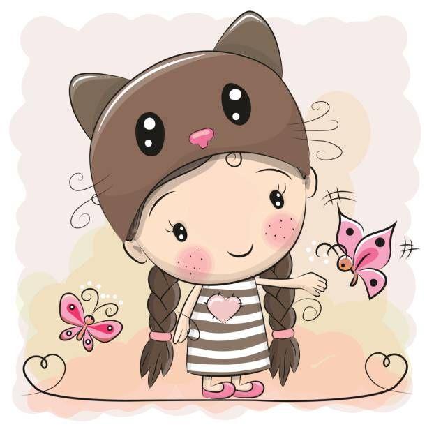 Cute cartoon girl clipart transparent stock Cute Girl Cartoon Group with 72+ items transparent stock