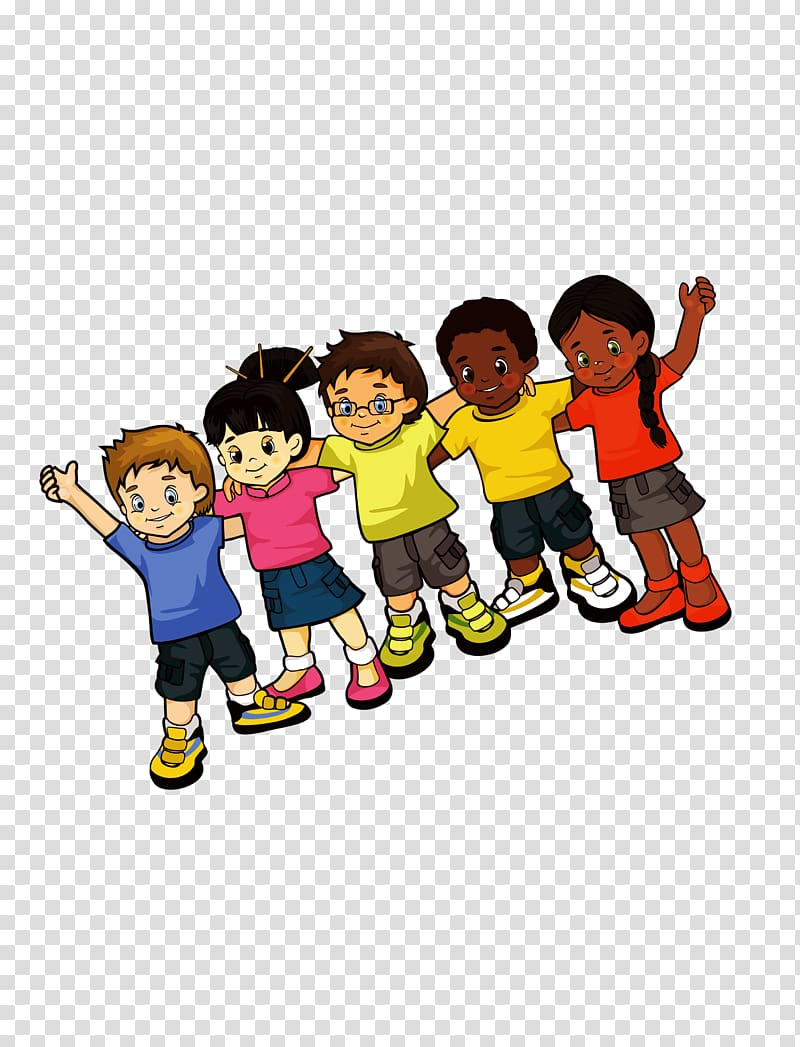 Cute cartoon kids clipart jpg transparent stock Child Drawing Cartoon Illustration, Five cute cartoon kids ... jpg transparent stock