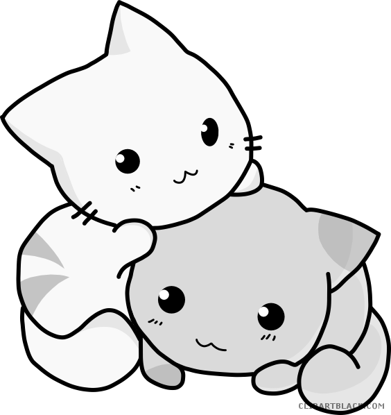Cute cat clipart black and white jpg transparent download Cute Cat Clipart - Page 3 of 5 - ClipartBlack.com jpg transparent download