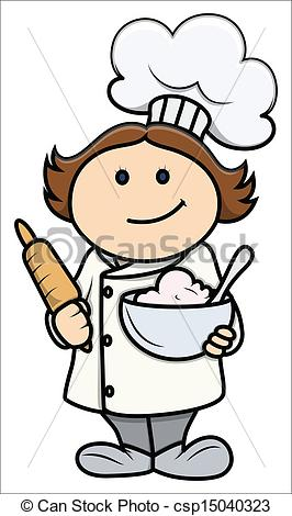 Cute chef clipart vector free Cute Girl Chef Clipart - Clipart Kid vector free