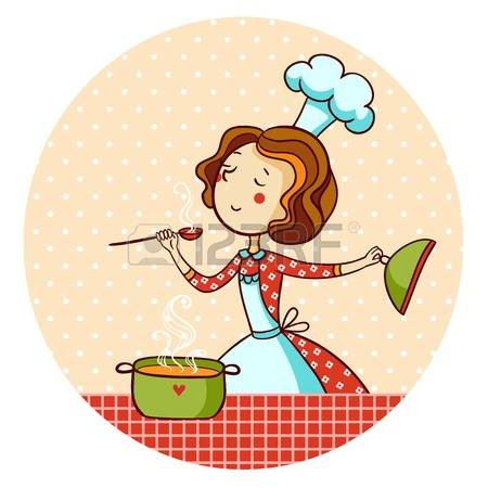 Cute chef woman clipart vector free 3,738 Female Chef Stock Vector Illustration And Royalty Free ... vector free