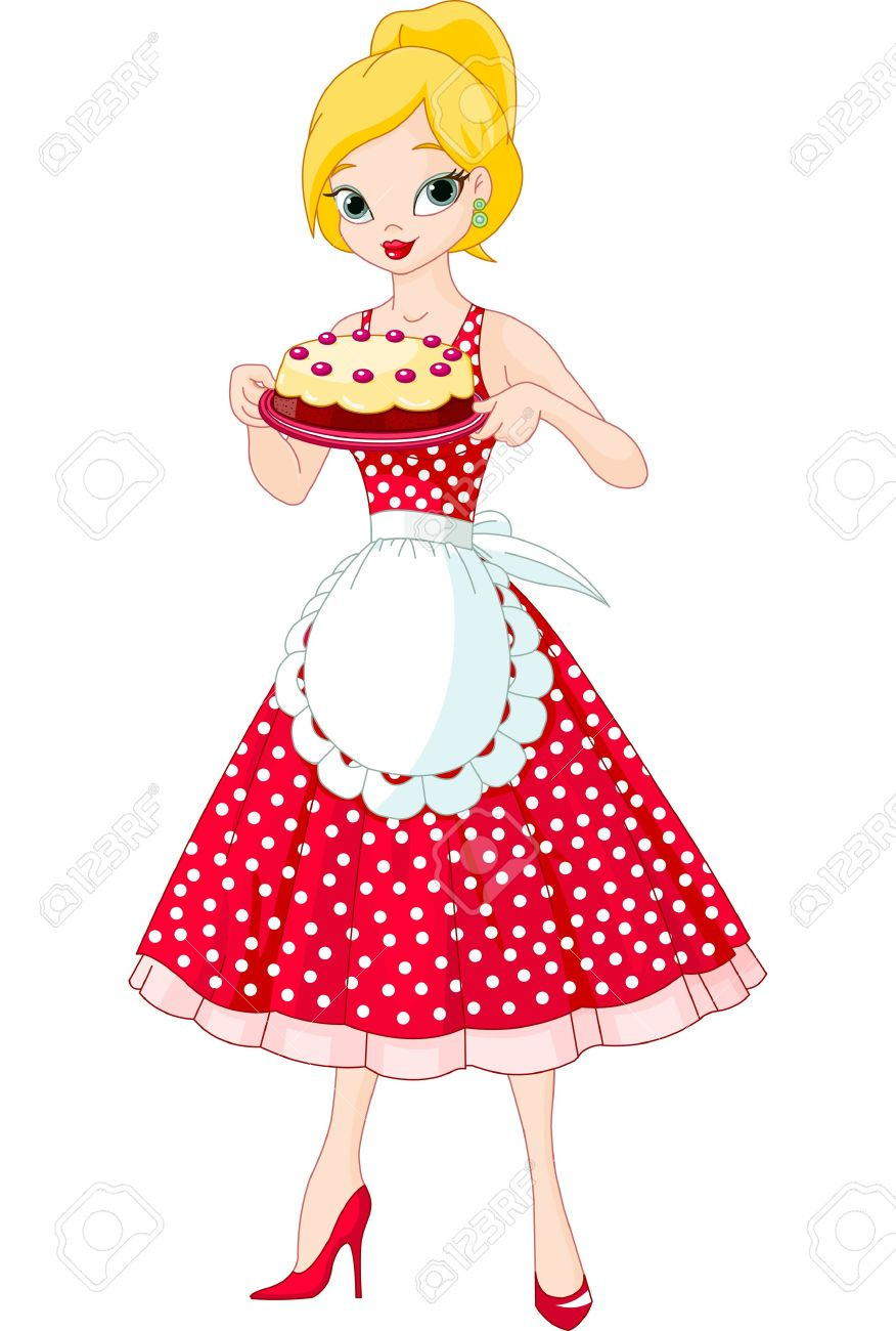 Cute chef woman clipart image free Female pastry chef clipart - ClipartFest image free