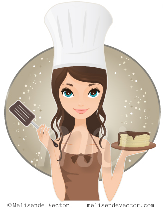 Cute chef woman clipart graphic black and white library Cute chef woman clipart - ClipartFest graphic black and white library